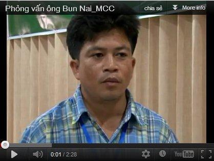 Phỏng vấn ông Bun Nai_MCC, Xieng Khoang