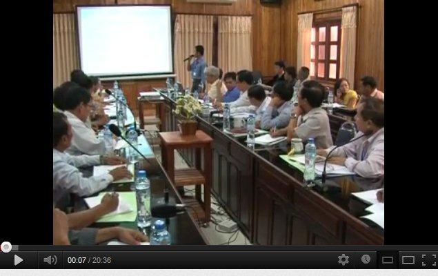 Trình bày của CDEA trong Hội thảo: giải quyết xung đột đất-rừng dựa vào Luật tục tại Luang Prabang, Lào