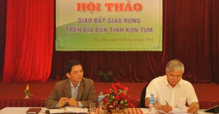 Hội thảo: Giao đất giao rừng dựa vào cộng đồng trên địa bàn tỉnh Kom Tum